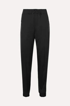 Prada Leather-trimmed Satin Track Pants