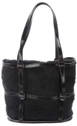 Salvatore Ferragamo Patent Leather-Trimmed Mini Bag