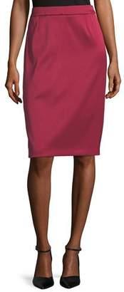 Escada Ravas Duchesse Satin Pencil Skirt