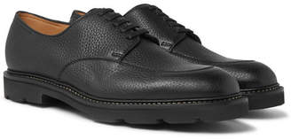 John Lobb Sentry Pebble-Grain Leather Derby Shoes - Black