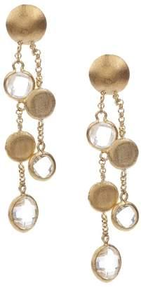 Rivka Friedman Cascading Pebble & Rock Crystal Dangle Post Earrings