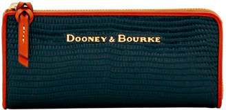 Dooney & Bourke Embossed Lizard Zip Clutch