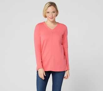 Factory Quacker Essentials Long-Sleeve V-Neck Knit Tunic
