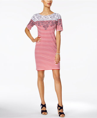 Karen Scott Striped Sheath Dress, Only at Macy's $44.50 thestylecure.com