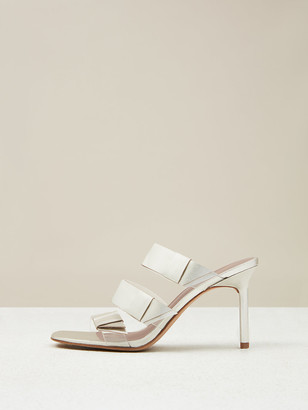 Diane von Furstenberg Amari Metallic Leather Sandals