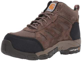 Carhartt Women's Lightweight Wtrprf Mid-Height Work Hiker Carbon Nano Safety Toe CWH4420 Industrial Boot Brown Brushed Suede/Nylon 7 M US