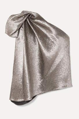 Maticevski Lithium One-shoulder Lurex Top - Silver