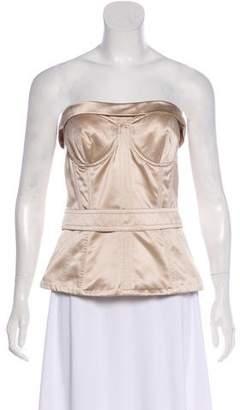 Dolce & Gabbana Silk Strapless Corset