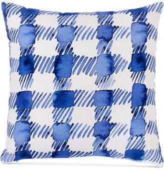 "bluebellgray Gingham 16"" Square Decorative Pillow Bedding"