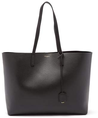 Saint Laurent East West Medium Leather Tote - Womens - Black