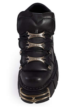 New Rock Newrock 106 Leather Ankle Boots