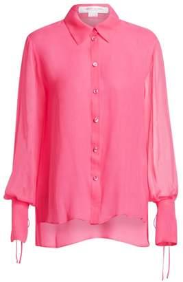 6b03d85f3735cc Carolina Herrera Silk Bell-Sleeve Blouse