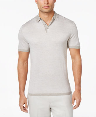 Alfani Men's Textured Striped Polo, Only at Macy's $65 thestylecure.com