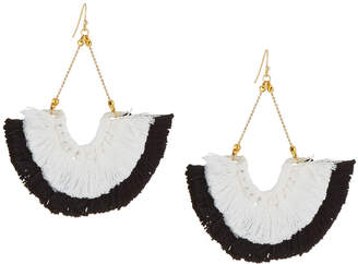 Panacea Colorblock Fan Fringe Drop Earrings