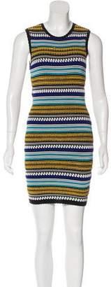 Torn By Ronny Kobo Striped Sleeveless Dress