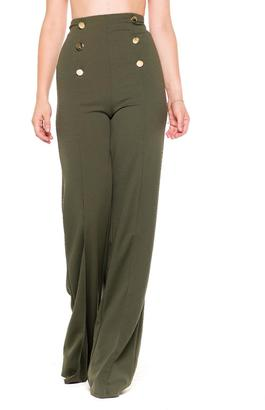 Bella High Wasted Pants $66 thestylecure.com