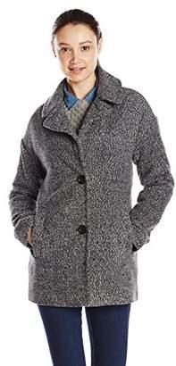 Celebrity Pink CelebrityPink Juniors' Faux Wool Blend Boyfriend Coat