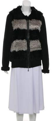 Neiman Marcus Fur Knit Jacket