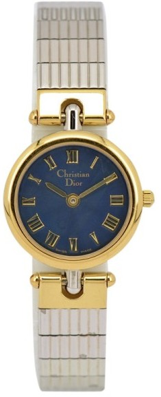 Christian Dior  Christian Dior 3025 Stainless Steel & Gold Plated 21.5mm Womens Watch