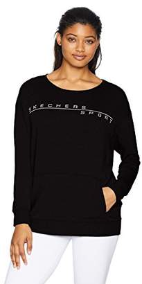 Skechers Women's Basic Crewneck Fleece Pullover Sweatshirt