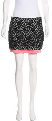 Diane von Furstenberg Layered Mini Skirt