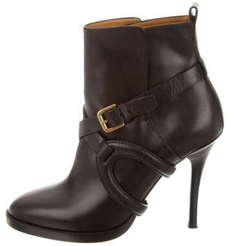 Ralph Lauren Leather Buckle Boots