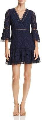 Aqua Bell Sleeve Lace Dress - 100% Exclusive