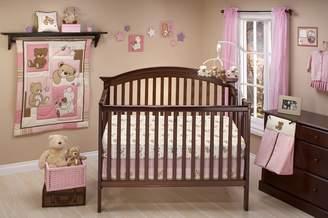 NoJo Little Bedding by Dreamland Teddy Girl Crib Bedding Set