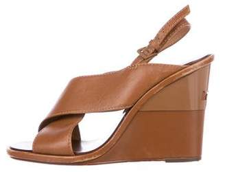 Tory Burch Leather Crossover Wedges
