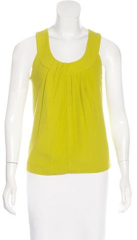 Kate Spade New York Sleeveless Pleated Top