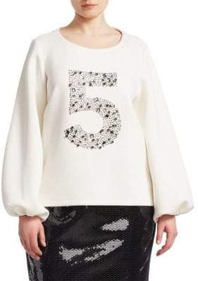 Marina Rinaldi Marina Rinaldi, Plus Size Embellished Balloon Sleeve Sweater
