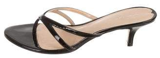 Via Spiga Patent Leather Thong Mules