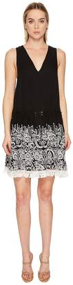 Jonathan Simkhai Embroidered Silk Crinkle Mini Dress Cover-Up