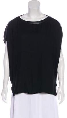 Helmut Lang Leather-Trimmed Cocoon Top