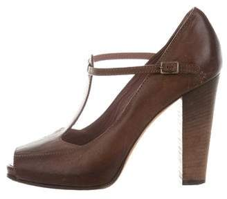 Derek Lam Leather T-Strap Sandals