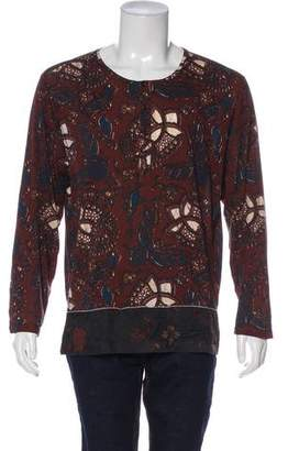 Dries Van Noten Abstract Print Henley T-Shirt