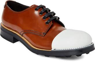 Prada Cap Toe Leather Oxfords