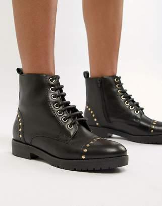 Carvela Leather Flat Hiker Boots
