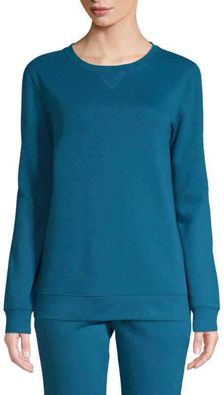SJB ACTIVE St. John's Bay Active Long Sleeve Sweatshirt