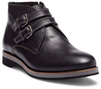 Bacco Bucci Gerard Double Buckle Leather Chukka Boot