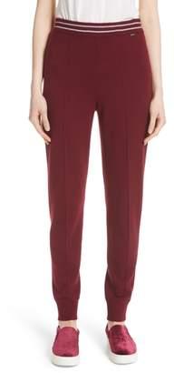 St. John Stripe Waist Cashmere Knit Pants
