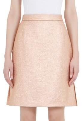 Carven Metallic Mini Skirt