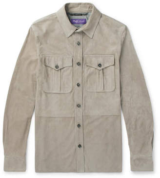 Ralph Lauren Purple Label Barron Suede Overshirt