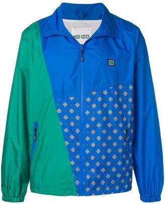 Kenzo colour block printed jacket
