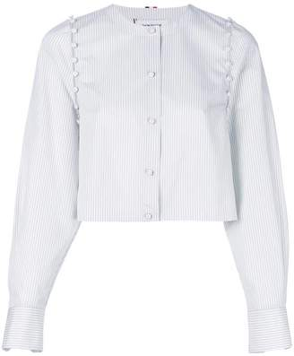 Thom Browne Bridal Button University Stripe Poplin