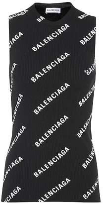 Balenciaga Sleeveless logo-printed top