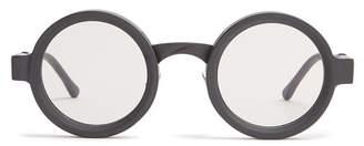 Kuboraum - Round Frame Acetate Sunglasses - Mens - Black