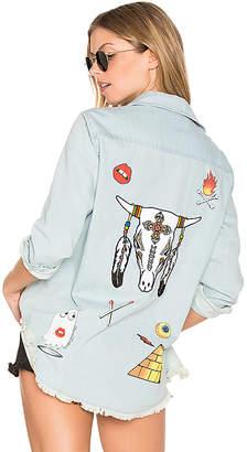 Lauren Moshi Sloane Long Sleeve Button Up Denim Shirt in Black $176 thestylecure.com