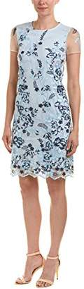 Donna Ricco Women's Embroidered mesh Shift Dress