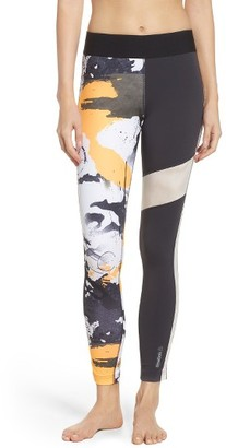 Women's Reebok Elite Paint Splatter Leggings $65 thestylecure.com